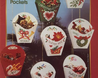 Aida Plus Christmas Pockets Cross Stitch Instruction Booklet