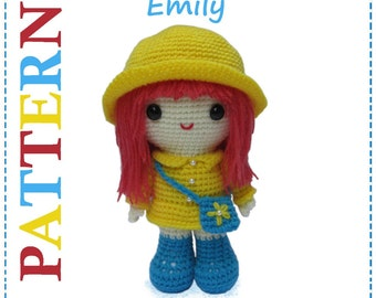 ENGLISH Instructions - Instant Download PDF Crochet Pattern Emily