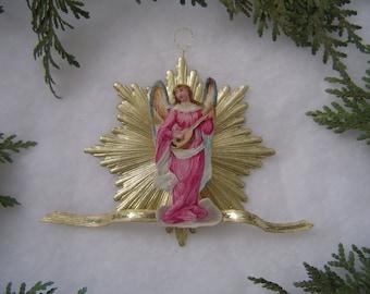 Choice of Antique Angel Scrap Dresden Starburst 3-D Handmade Victorian Christmas Ornament