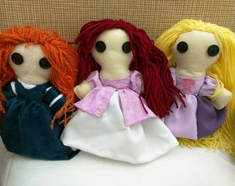 Princess, Hero, and Villain Dolls