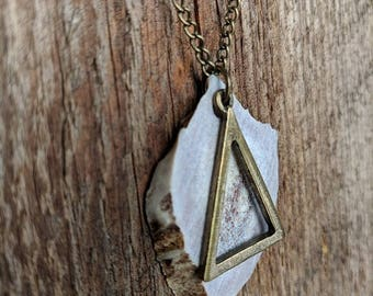 Deer antler jewelry, boho necklace, natural jewelry, bone necklace, rustic necklace, antler necklace, long necklace, antler jewelry