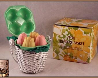 Vintage Avon Treasure Basket Fragranced Soaps (NEW Condition)