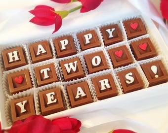 Happy Anniversary Chocolates - Year Anniversary Gift - Anniversary Gift for Couple - Anniversary Gift to Husband - Anniversary Gift to Wife