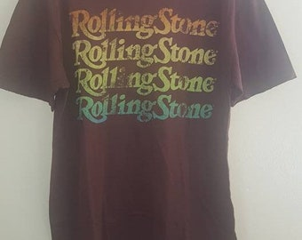 Rolling Stone Magazine Multi-Color Logo  T-Shirt