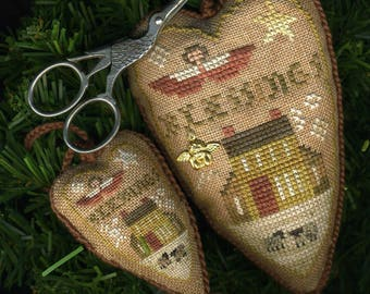 Blessings Heart Ornament and Stitching Necessaire
