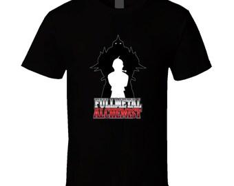 Fullmetal Alchemist t-shirt on special price. Elric Brothers tshirt for birthday. Fullmetal Alchemist tee present. Elric Brothers idea gift