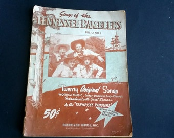 Songs of the Tennessee Ramblers, Words and music guitar ukulele and banjo chords