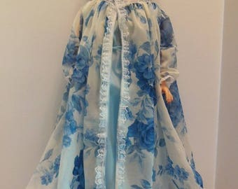 "Blue Peignoir Set for 28"" Darling Debbie Dolls"