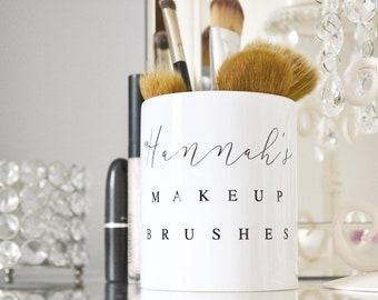 Personalised Make up storage, make up brush holder, make up organiser, personalised make up brush vase, make up brush vase storage
