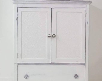 French Armoire- Vintage Armoire-Shabby Chic Armoire-Vintage Dresser-Distressed Armoire Dresser