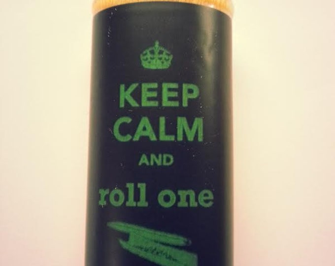 Keep Calm and Roll One Joint BIC Lighter Case, Weed, Marijuana, Ganja, Pot, Holder, Sleeve, Cover