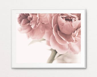 Peonies Photo - Peonies Print, Floral Photography, Floral Print, Black and White Peonies, Dreamy Decor, Floral Print Art, Floral Wall Art