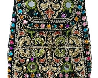 Handmade Embeoidered Womens Clutch, Handmade Leather Clutch, Bohemian Crossbody,Bright Bohemian Purse, Summer Bag,shopping Clutch Bag,Pouch.