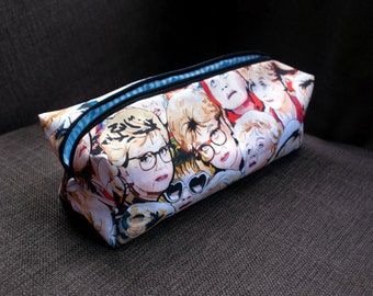 Murder She Wrote illustrated make-up bag/pencil case. Handmade and exclusive to ThatAgnes!