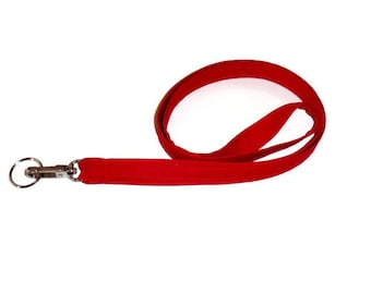 Lanyard, Key Chain, ID Badge Holder, Gift for Women, Teacher Lanyard Gifts, Gifts For Students, Coaches Gift, Red Fabric