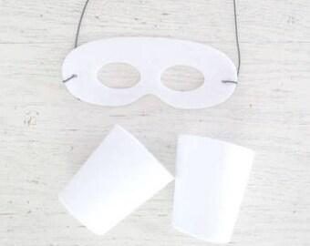 Matching Mask and Arm Cuffs