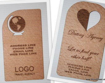 Wooden business card unique design set of 10 custom wooden business card unique design set of 50 custom order reheart Images