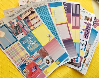 Book Lover 2.0 Weekly Planner Sticker Kit | Erin Condren and Happy Planner