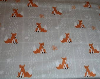 1 YARD Quilt Cotton Fabric ~  Fox Plaid  Wilmington Prints Wonderful Woodland Fox Fabric