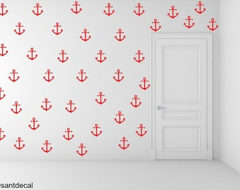 FREE SHIPPING Wall Decal Red Color  Anchor 113 Wall Decal. Nursery Wall Decal. Home Decor. Diy Wall Decal.Kids Wall Decal. Vinyl Decal