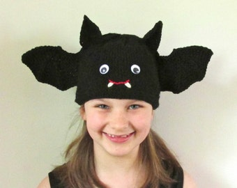 Spider and Bat Hats  - KNITTING PATTERN -  pdf file by automatic download