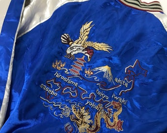Vintage Japanese Embroidered Silk Jacket