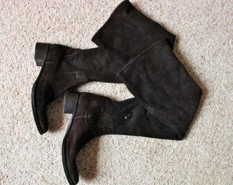 Vintage Prada Knee High Boots Size 7.5 (Fits Like an 8)