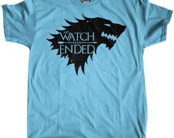 "Men's Game of Thrones Jon Snow ""My Watch Has Ended"" Regular Fit T-Shirt"