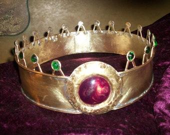 Mens Beowulf Crown, medieval crown, kings crown, renaissance crown, cosplay crown, mens accessories, costume