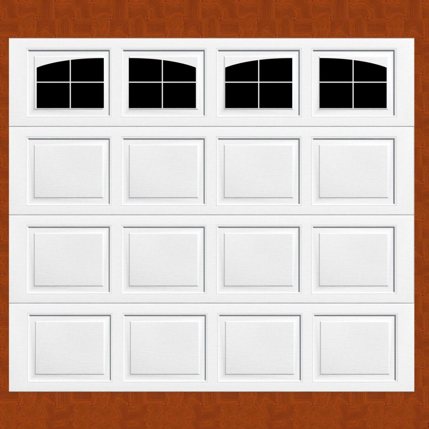 Garage Door Vinyl Window Decals: Carriage House Style Faux Windows Garage Door Vinyl Decals