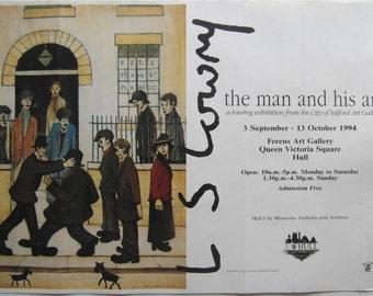 Original 1994 Lowry Exhibition Poster