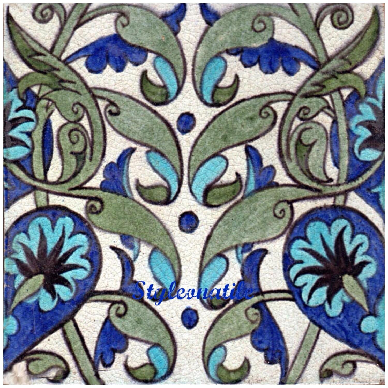Lovely william de morgan persian blue flower 6152mm ceramic tile lovely william de morgan persian blue flower 6152mm ceramic tile trivet kitchen bathroom walls splash backs fireplace tile plant stands dailygadgetfo Choice Image