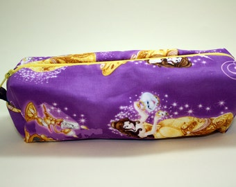 Boxy Makeup Bag - Disney's Beauty and the Beast Zipper - Pencil Pouch
