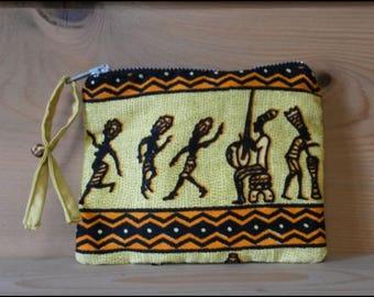 """Mother Africa"" zippered pocket"