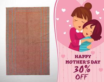 """Persian Rug, Geometric Rug, Tribal Rug, Zilu Rug, mothers day gift, Kilim Rug, Kilim Area Rug, Red Rug, Traditional Rug, 7'6""""x4'1"""" ,S2431"""