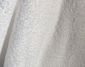 White Cotton Terry Cloth  3/4 Yard