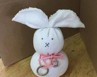 Breast Cancer Awareness Sock Rabbit