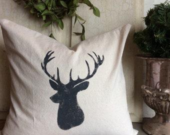 Deer Head Feather Pillow