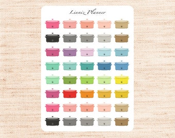 Slow Cooker, Crock Pot Regular size (matte planner stickers, perfect for planners)