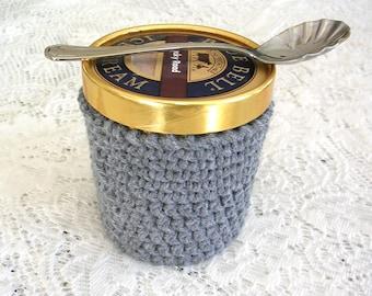 Pinte gris crème glacée manche - fait main au Crochet crème glacée Cozy - gris glace porte - pinte taille confortable couverture - chalet Decor