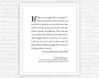 Graduation Gift Print for him, Frederick Douglass, inspirational gift