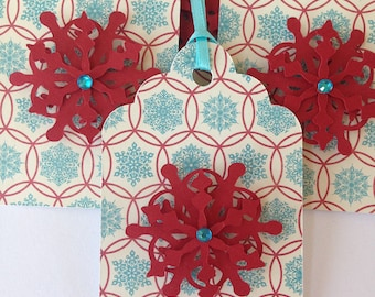 Snowflake gift tags /Snowflake party favor tags