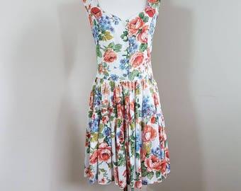 Rare Stunning Dress / Size M / AU10  / Women Vintage 90s Dress / Peasant dress