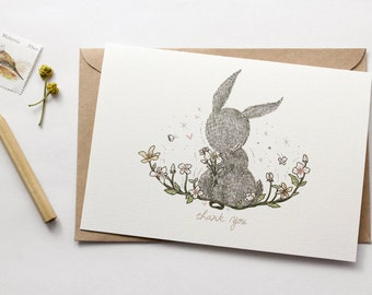 Thank You, Rabbit - Greeting Card