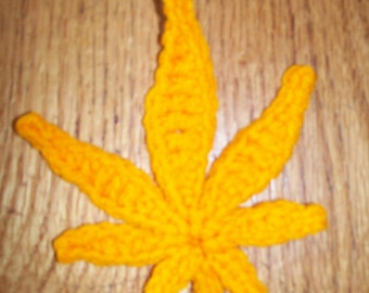 pattern only crochet pot leaf motif