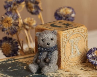 Bear Miniature bear Crochet bear Thread teddy bear Artist bear