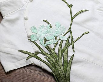 Green Flowers Appliques