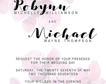 Orchid Wedding Invitation and RSVP