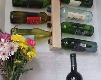 9-Bottle Maple Wine Rack