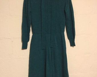 1970's Ciao Ltd Wool Dress
